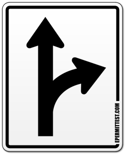 Straight or Turn Right