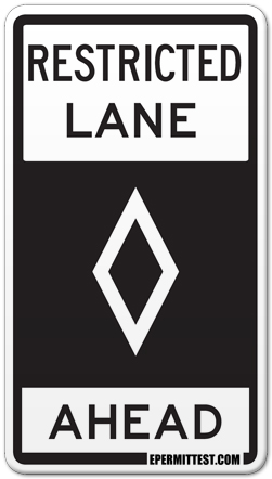 Restricted Lane Ahead