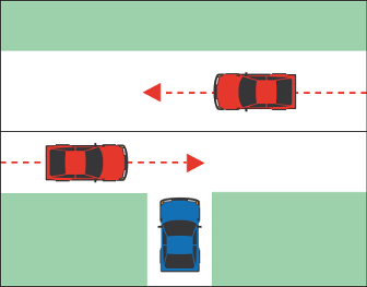 Right of Way At Uncontrolled T Intersections
