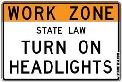 Work Zone Headlights