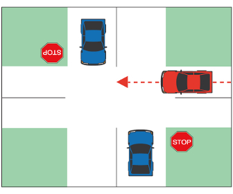 Yield at Stop-controlled Intersections