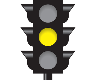 Intersection controlled by a Steady Yellow Light