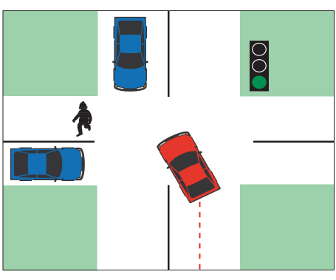 Yield to Traffic When Turning Left