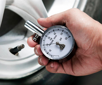 Check your tires for wear and tear.  Check tire pressure.