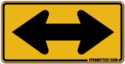 Two Direction Arrow