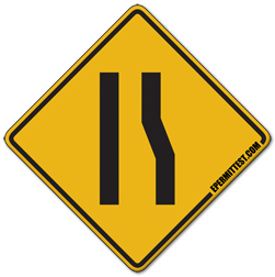 Lane Ends Ahead