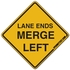 Lane Ends Merge Left