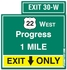 Exit Only Highway Sign